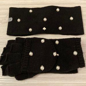 💥CLEARANCE!💥Kate Spade SET!Pearl Headband/Gloves